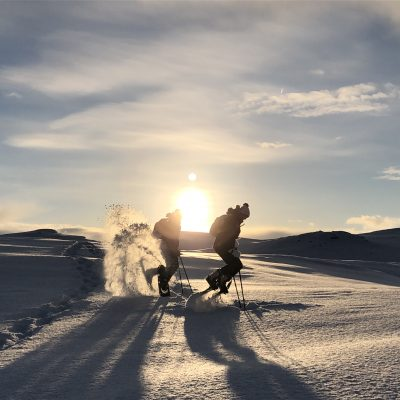 A great reason to book our tour Snowshoeing in the arctic tundra – AURORA edition