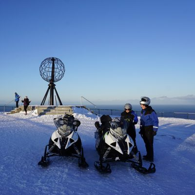 A great reason to book our tour The iconic North Cape by snowmobile – AURORA edition